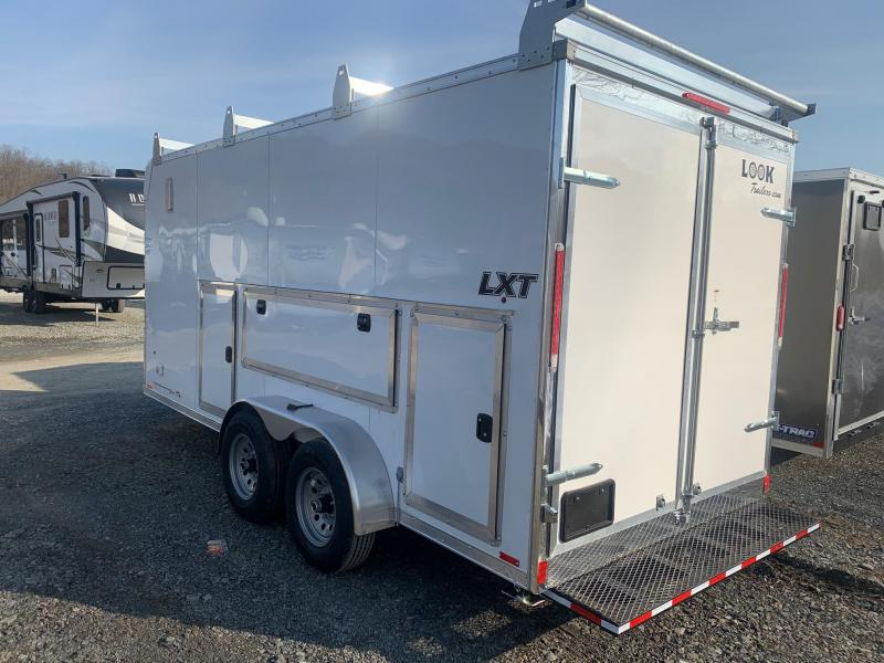 2022 look st dlx 7x14 7k cargo enclosed trailer ramp 6 5 ft interior height d rings sidewall vents radial tires stlc7x14te2dlx