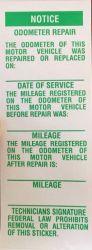 Notice of Odometer Repair