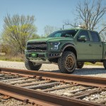 2019 Ford F 150 Raptor With Green Kevlar Coating And Gold Method Race Wheels