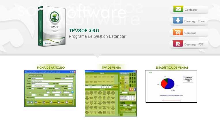 TPVSOF 3.6.0 Programa de Gestión Estándar