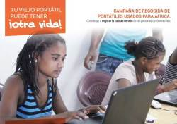campaña de recogida de portatiles usados para africa