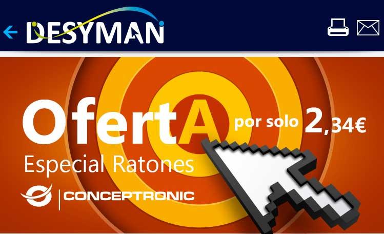 oferta especial ratones conceptronic