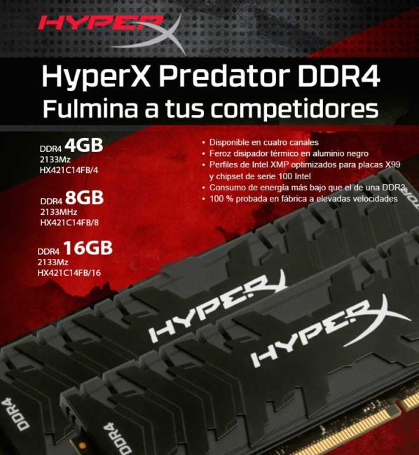 comprar kingston hyperx predator