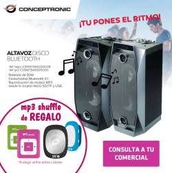 conceptronic altavoz disco bluetooth