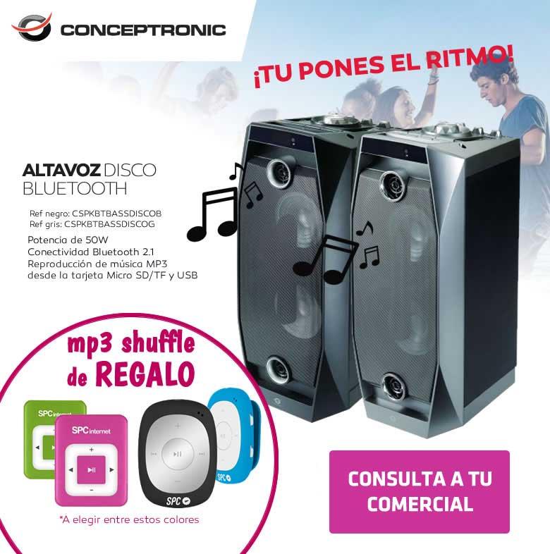 conceptronic altavoz disco bluetooth