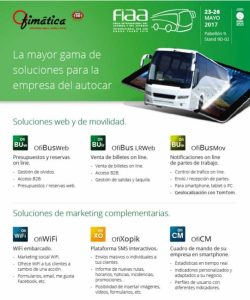 gama de soluciones para la empresa del autocar