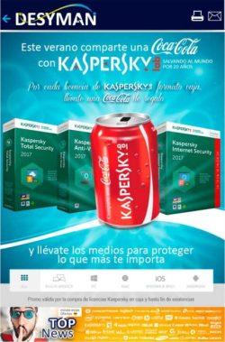 comparte una coca cola con kaspersky
