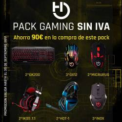 pack gaming hiditec sin iva
