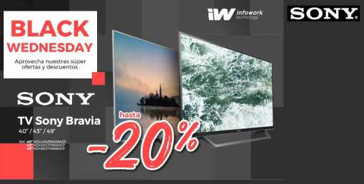 Descuento Black Friday en TV Sony Bravia