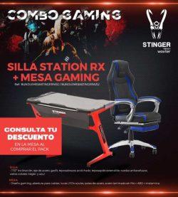 silla y mesa gaming woxter stinger