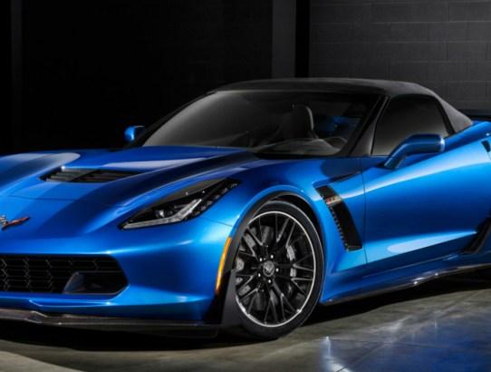 Blue Chevrolet Corvette Z06