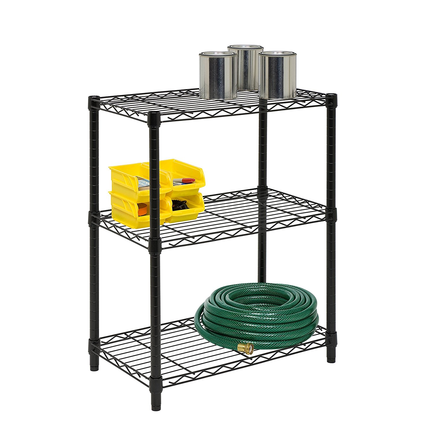 Honey-Can-Do SHF-01905 Adjustable Storage Shelving, 250-Pounds Per Shelf Black, 3-Tier, Only $17.92