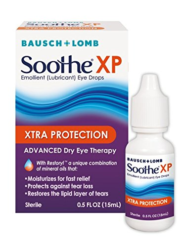 Bausch + Lomb Soothe XP Dry Eye Drops, Xtra Protection Lubricant Eye Drop with Restoryl Mineral Oils, 0.50oz- only $5.37 with coupon!