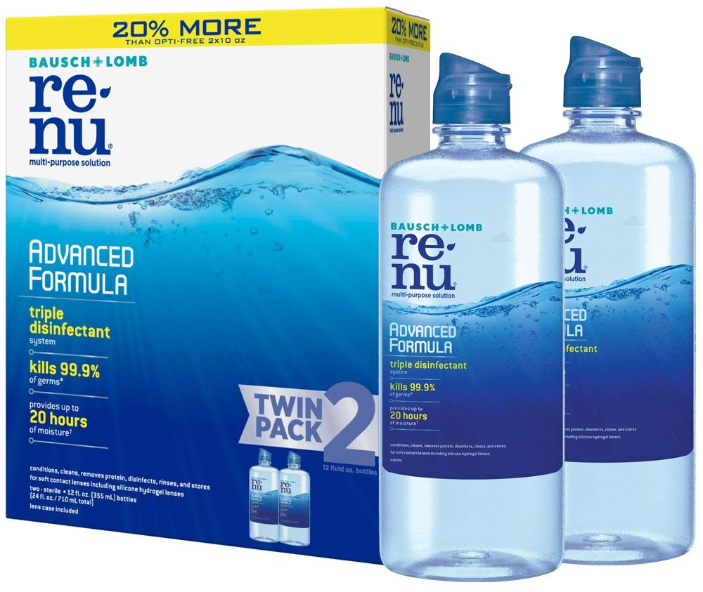 2 Pack Bausch + Lomb renu Lens Solution only $7.28! (was $13.97)