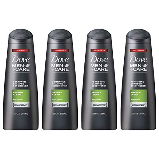 Dove Men+Care 2 in 1 Shampoo and Conditioner, 4 Pack only $7.20 with coupon!
