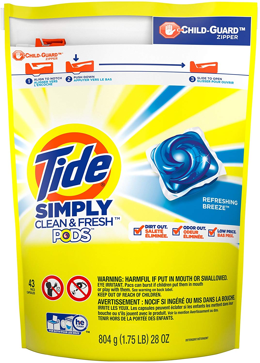 Tide Simply Clean & Fresh PODS Liquid Detergent Pacs only $6.49! (was $8.94)