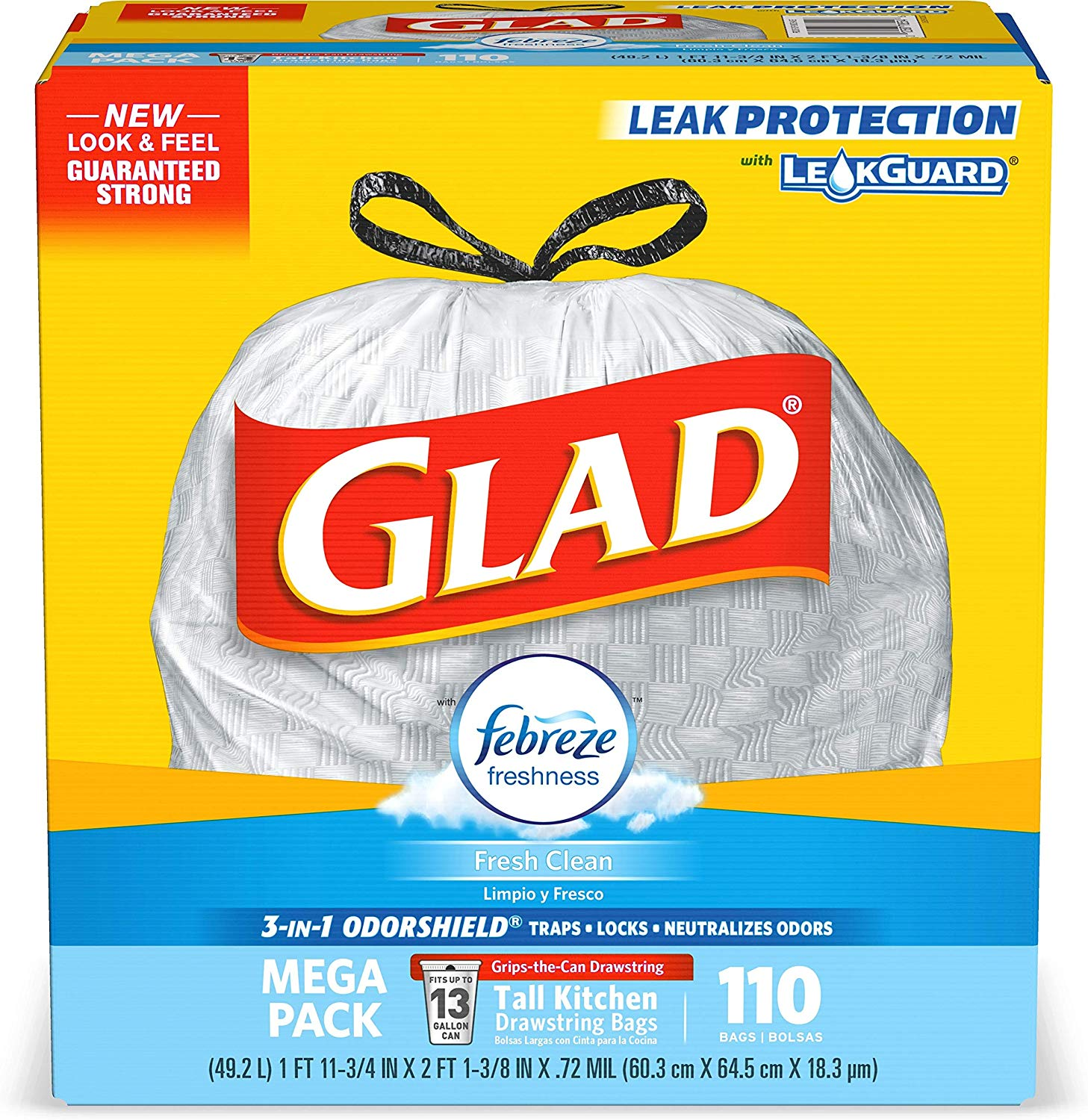 Glad Tall Kitchen Drawstring Trash Bags only $11.46 with coupon! (was $16.37)