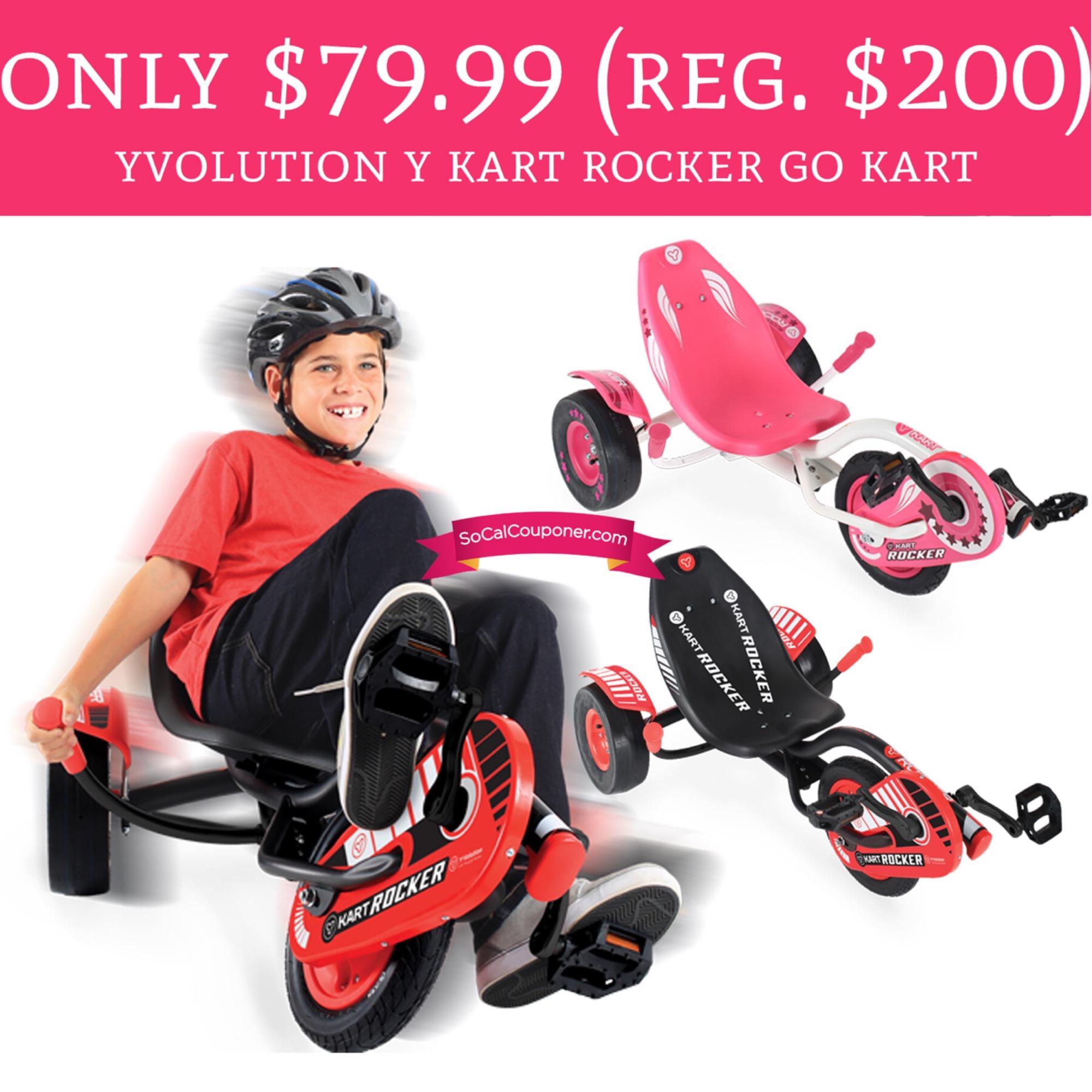 Only 7999 Reg 200 Yvolution Y Kart Rocker Go Kart Free Shipping Deal Hunting Babe