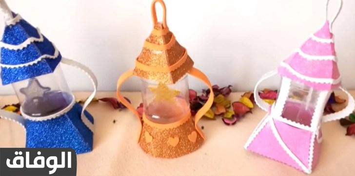طريقة عمل فانوس رمضان بالزجاج البلاستيك