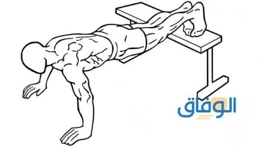 تمرين الضغط المائل إلى الأسفل لعلاج التثدي عند الرجال