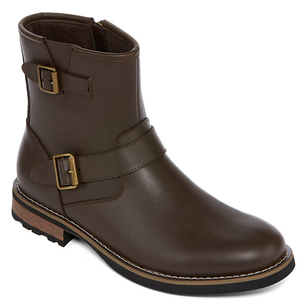 ca24acfebb0ea JCPenney  St. John s Bay Statham Mens Motorcycle Boots for  37.49 + store  pickup.