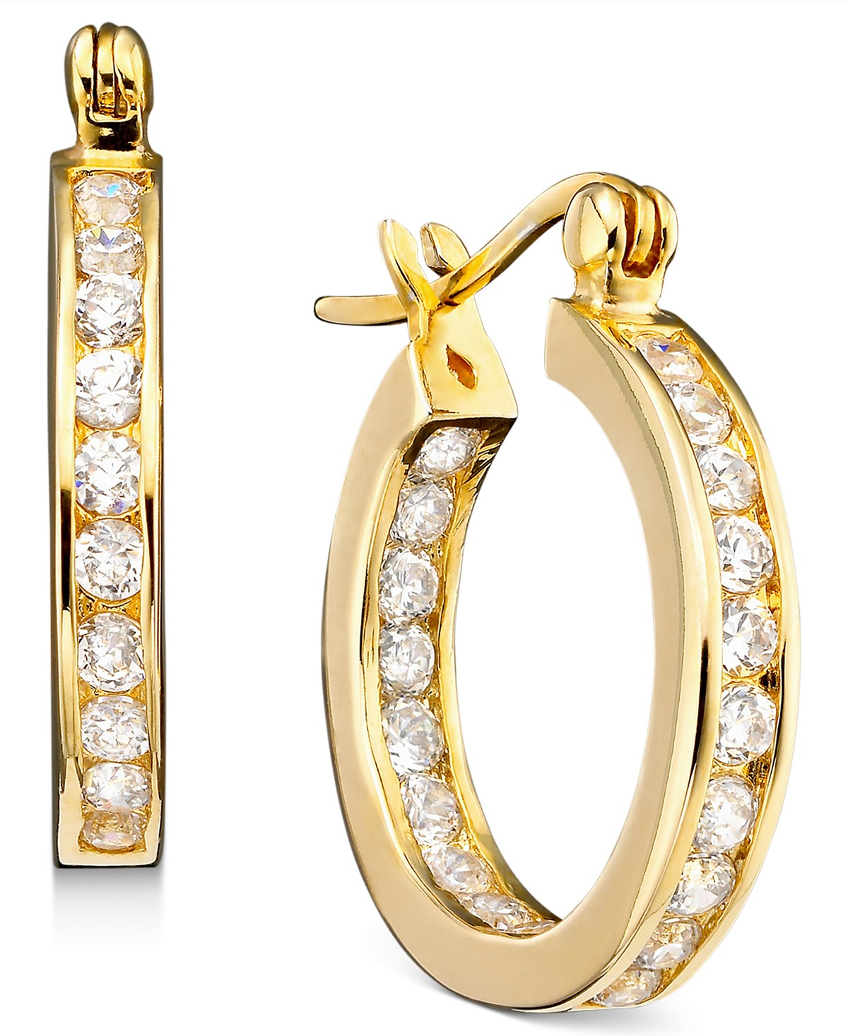 b13b54e0b Macy's: Giani Bernini Cubic Zirconia Inside Out Hoop Earrings in 18k for  $14.99 (Reg $89) + store pickup.
