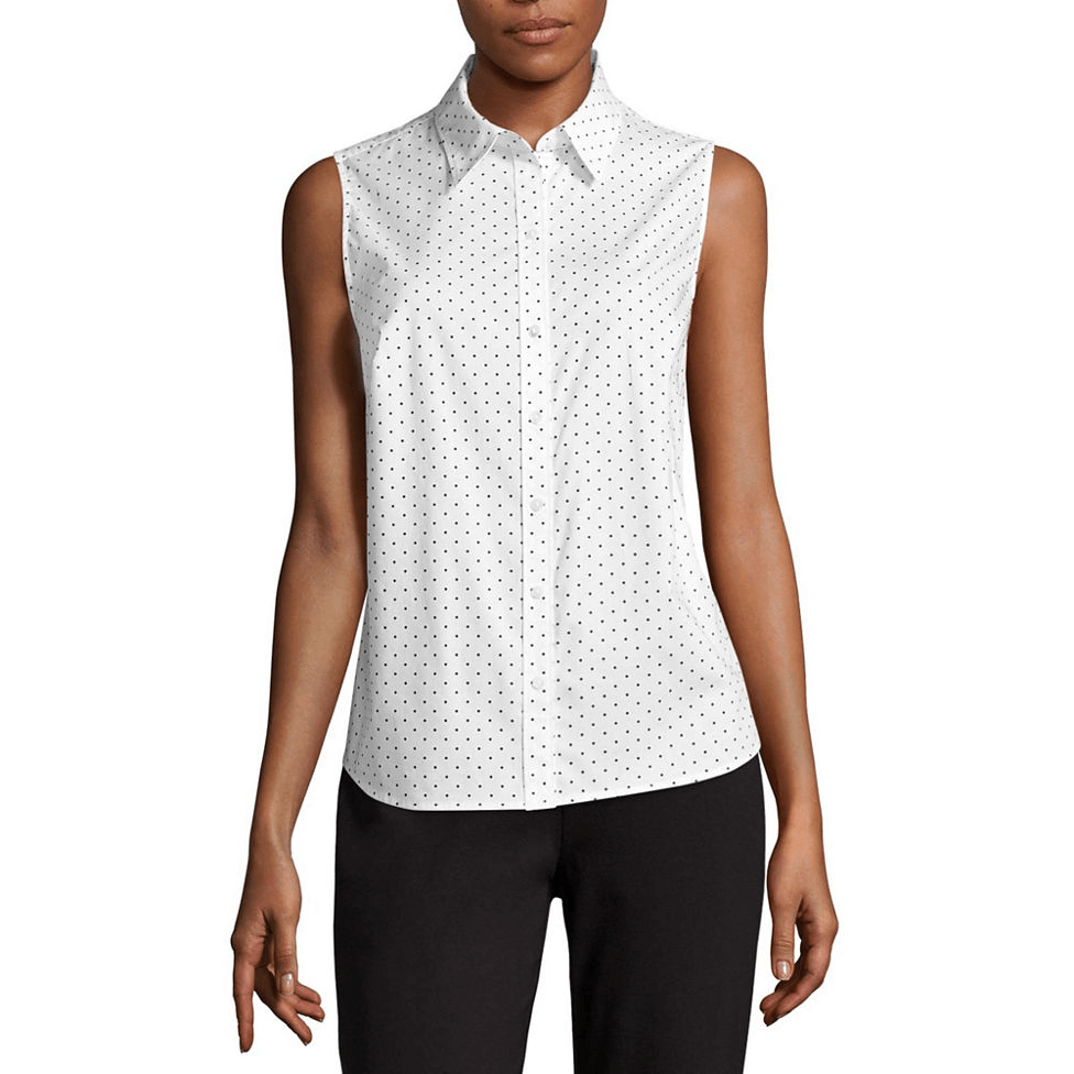 156987a1a JCPENNEY:Liz Claiborne Sleeveless Button-Front Shirt $12.74 (Reg ...
