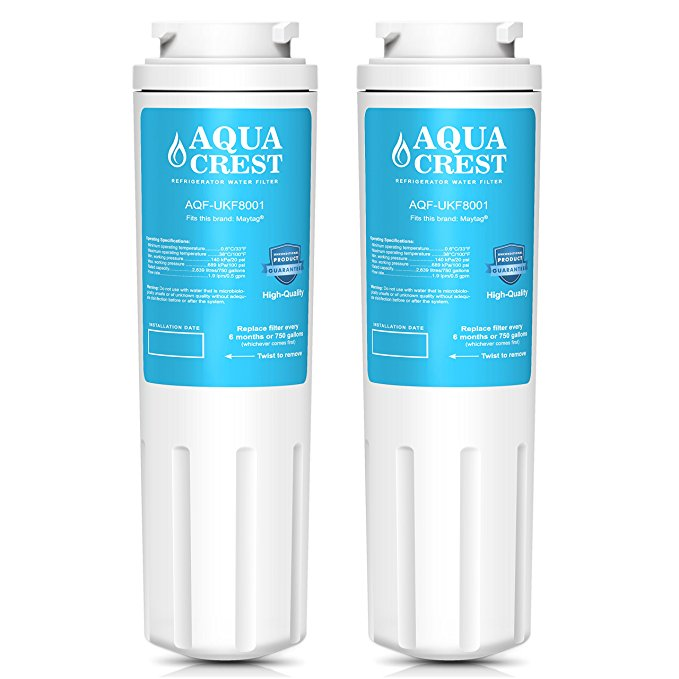 : 2-pk aquacrest ukf8001 refrigerator water filter replacement ...