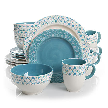 Kmart  Gibson General Store 16 Piece Cottage Chic Ceramic Dinnerware Set $3.59 (Reg. $68) + Free Shipping.  sc 1 st  Dealing in Deals! & Kmart : Gibson General Store 16 Piece Cottage Chic Ceramic ...