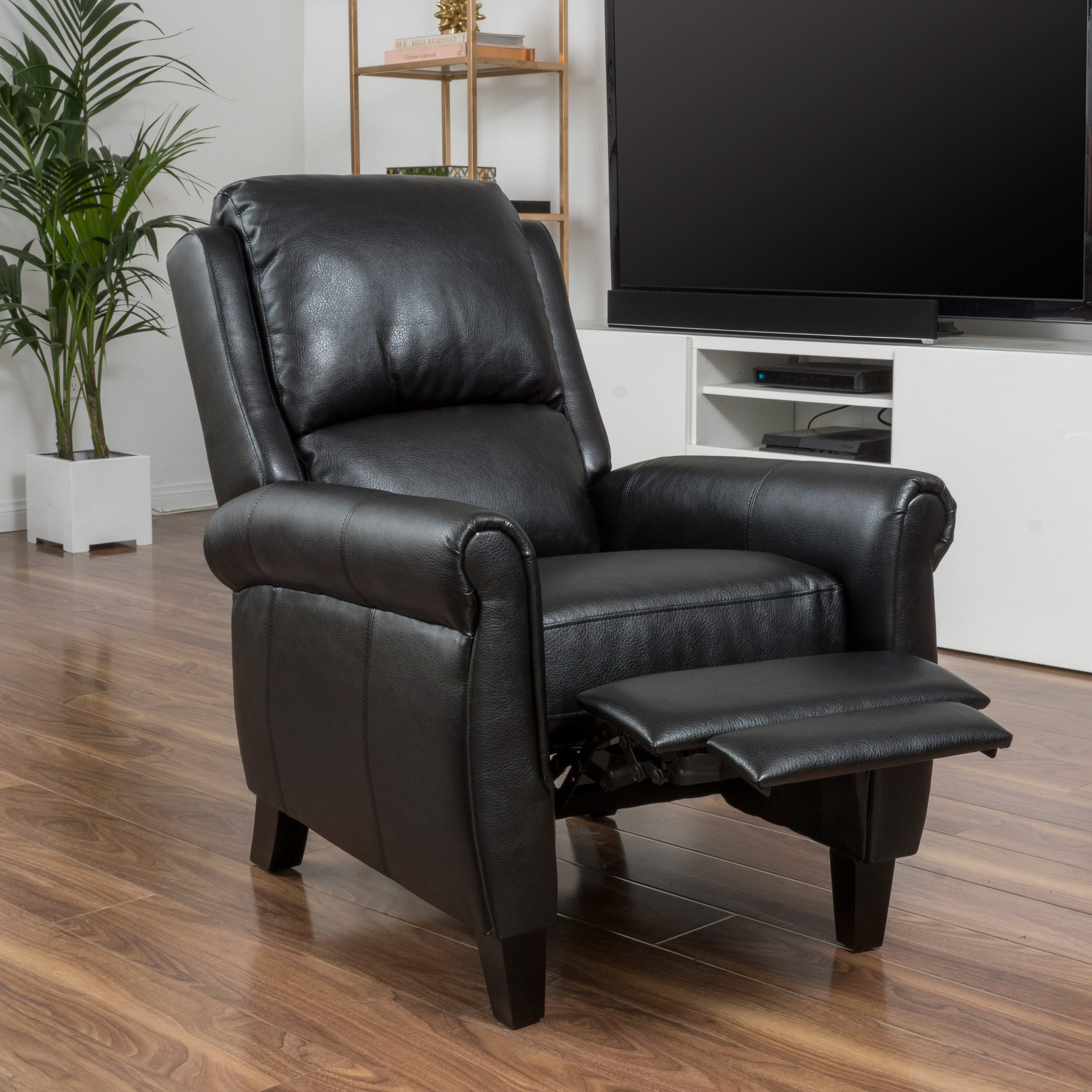 Haddan PU Leather Recliner Club Chair By Christopher Knight Home For  $164.54 (Was $244) + Free Shipping.