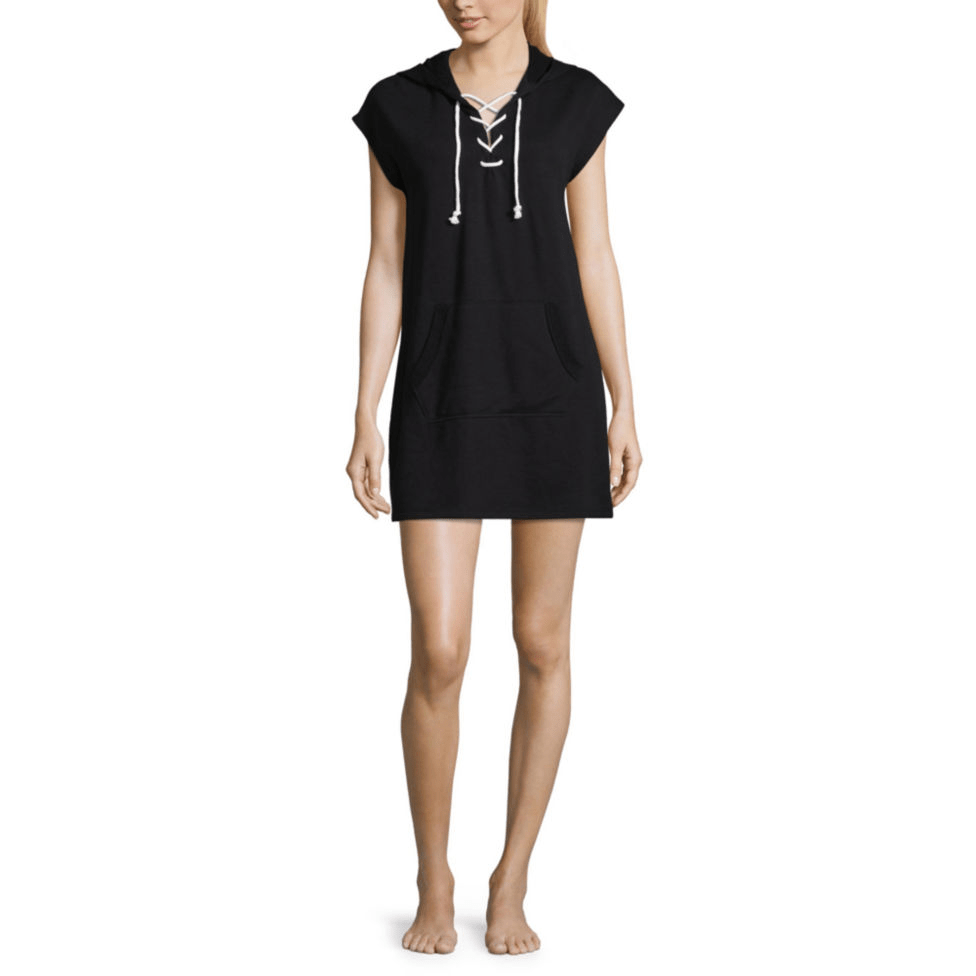 91a71acfdfc2 JCPenney: Flirtitude Lace Up Hooded Short Sleeve Dress Juniors for $10.20 +  store pickup.