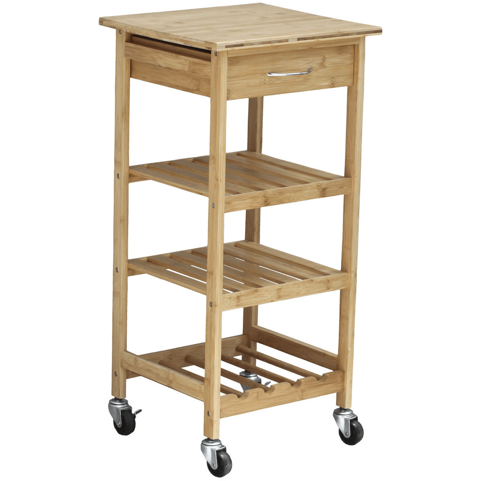 Jcpenney Oceanstar Bamboo Kitchen Trolley 26 31 Store Pickup Dealing In Deals