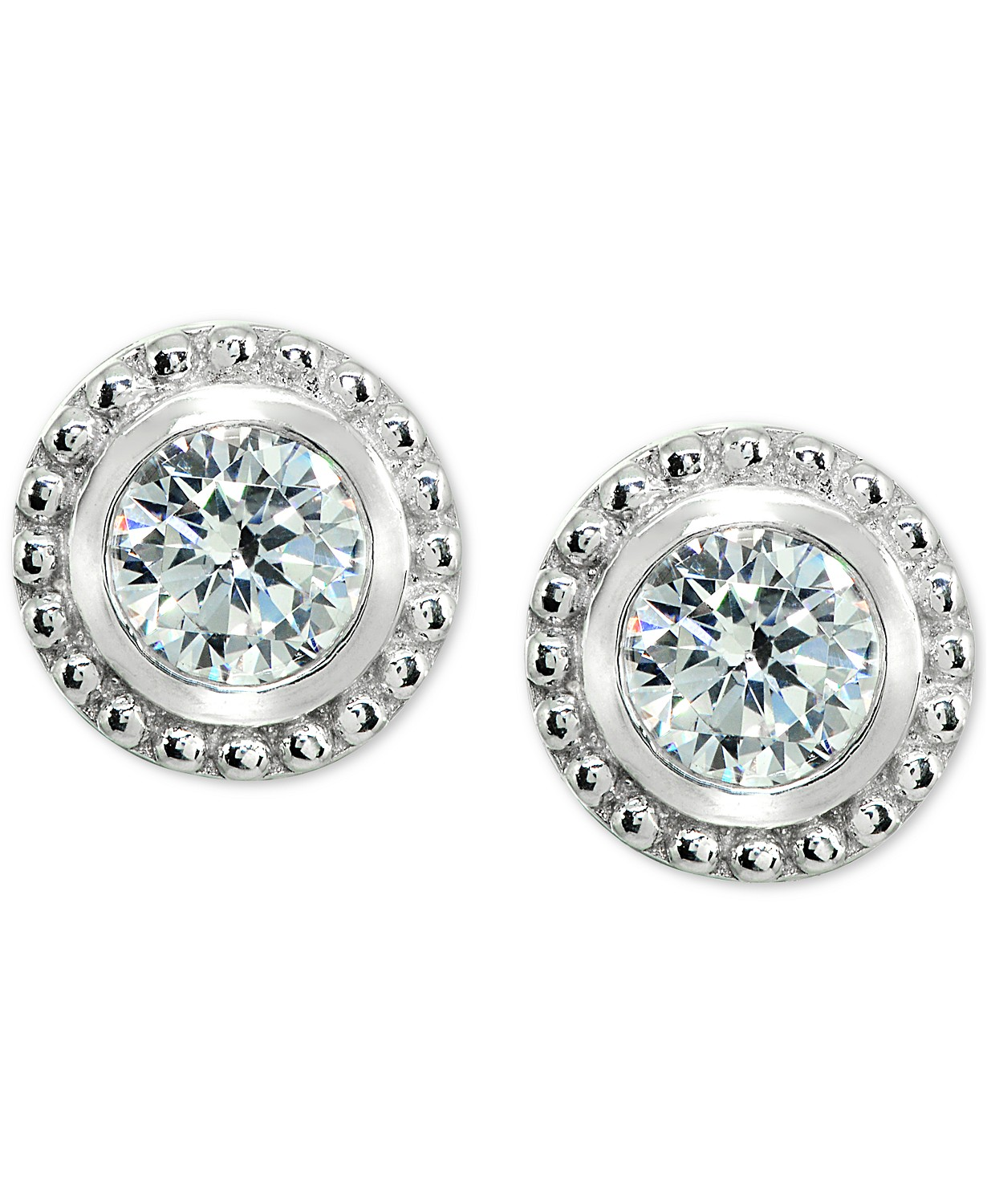 cb1d9a9ff Macys: Giani Bernini Cubic Zirconia Beaded Edge Stud Earrings for $18.96  (Was $80) + store pickup.