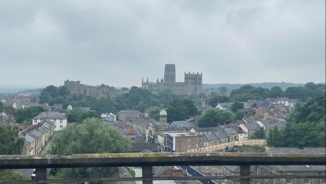 Photo of Durham just before I got off the train