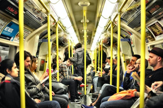 London tube train full of people