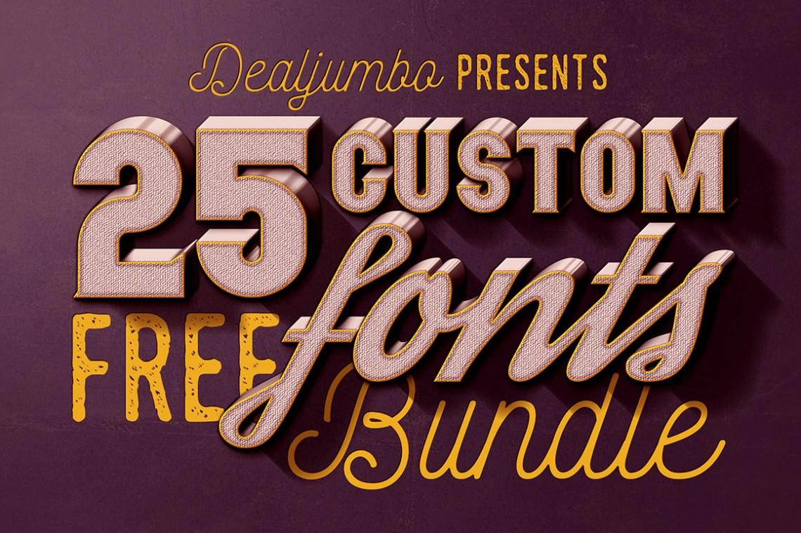 Download Dealjumbo Free Bundle vol.1 - 25 Custom Fonts! - Dealjumbo ...
