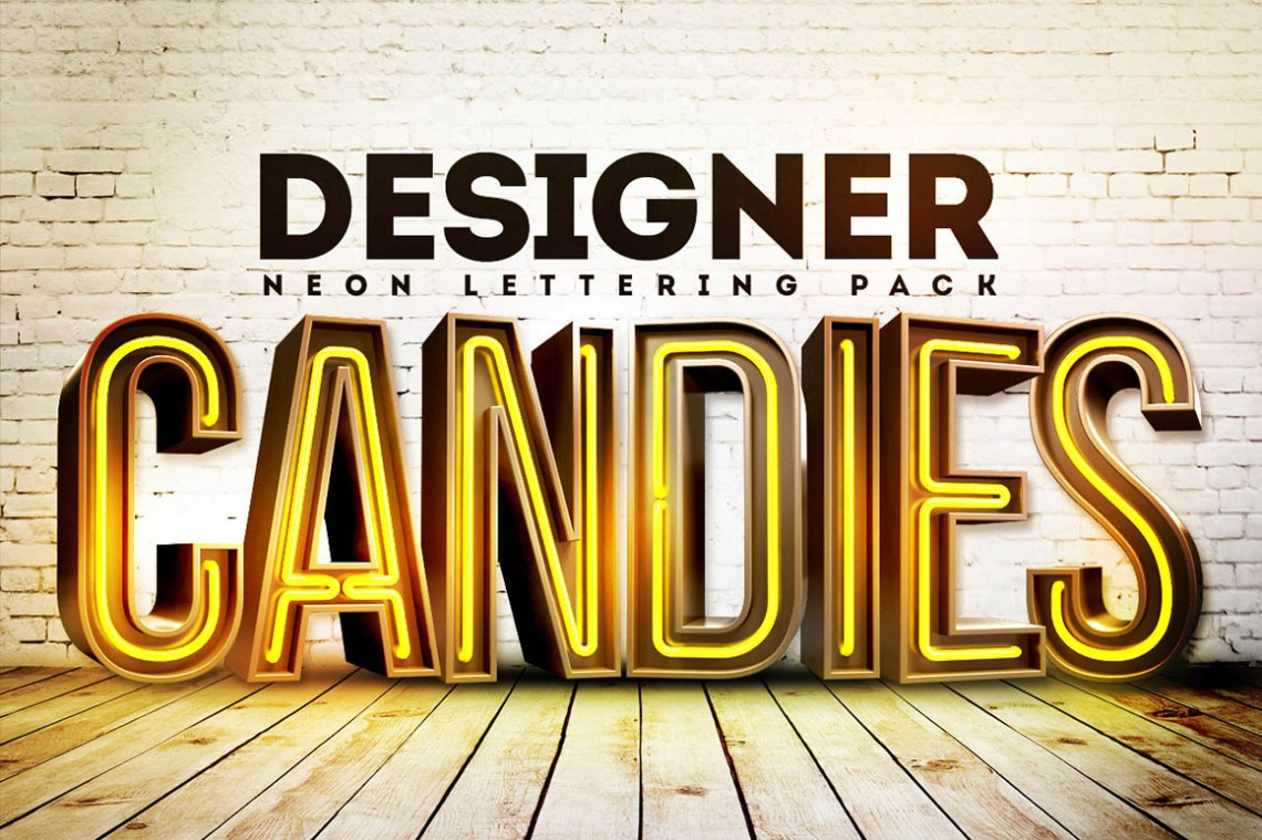 Download 3D Neon Lettering - Free Pack - Dealjumbo.com — Discounted ...
