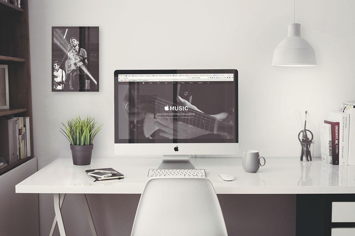 IMac Office Mockup Free PSD Discounted