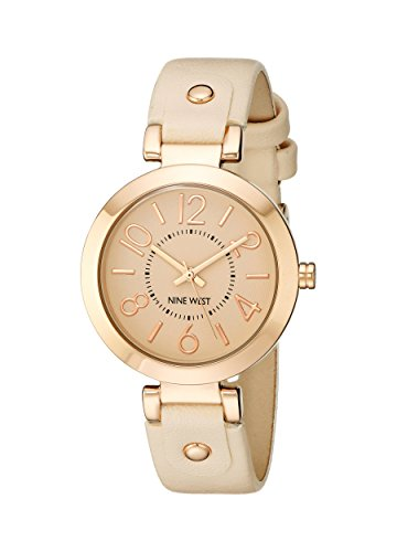 Nine West Womens NW1712PKRG Rose Gold-Tone Watch
