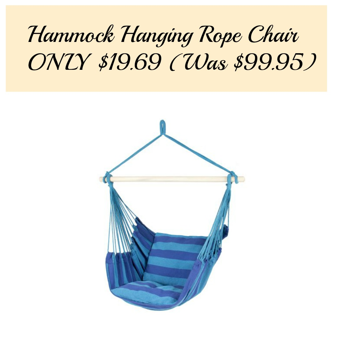 Hammock Hanging Rope Chair Only 19 69 Was 99 95