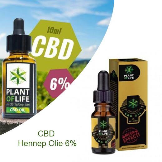 CBD Hennep Olie 6% - Bij Pijn, Spasmen En Chronische Pijnklachten