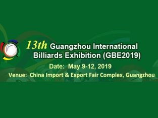13th China Guangzhou International Billiards Exhibition (GBE2019)