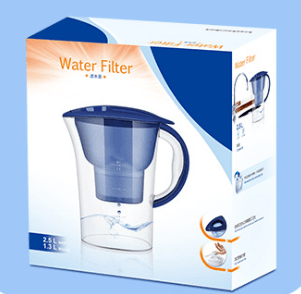 Activated Carbon Water Filter Jug with FDA & LFGB
