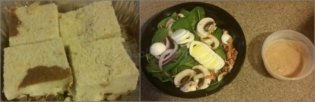 Sheppared Pie and Spinach Salad