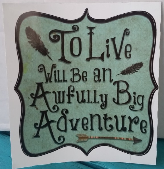 To Live Will Be an Awfully Big Adventure