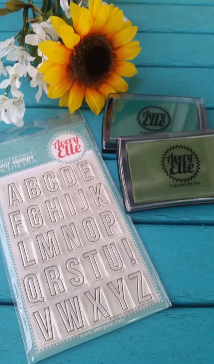 Avery Elle Stamp and Pigment Ink Set