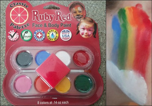 Classic Ruby Red Face Paint Kit