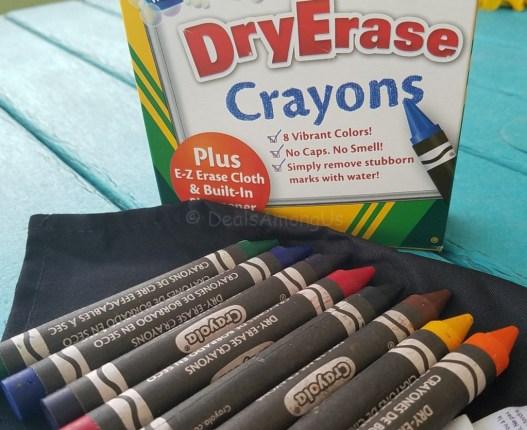 Dry Erase Crayons Open