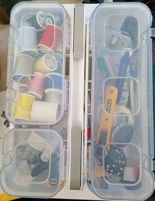 Top down of Sewing case