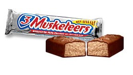 Image result for 3 musketeers bar